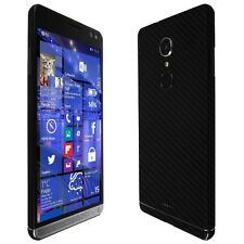 Skinomi Black Carbon Fiber Skin+Clear Screen Protector for HP Elite x3