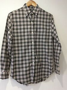 Polo Jeans Co Ralph Lauren navy blue, red check cotton shirt size S lovely