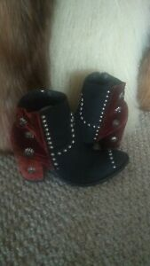 Double D  ranch boots by old gringo size 10 new Tacoma rust and turquoise