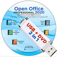 Open Office 2020 Software Suite for Microsoft Windows Home Student Pro USB + DVD