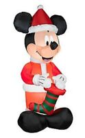 Disney Mickey Mouse w/ Christmas Stocking  Airblown Inflatable 5.5 ft tall NIB
