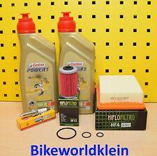 KTM Duke 125 Öl Ölfilter Luftfilter Zündkerze Castrol 10w40 Wartungs Set
