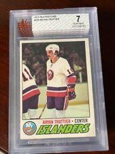 1977-78 O-Pee-Chee #105 Bryan Trottier BGS 7 NM 2nd year card