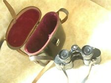 Denhill 8x25 Binoculars Coated Made In France~ Original Leather Case