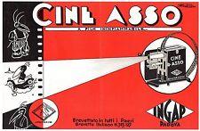 CINE ASSO INGAP ETICHETTA 18 X 27 per SCATOLA FILM CINEMA PROIETTORE