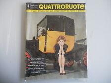 """Quattroruote N. 3 - Marzo 1959 - La """"1800"""" e la """"2100"""" Fiat - La """"500"""" a 4 posti"""