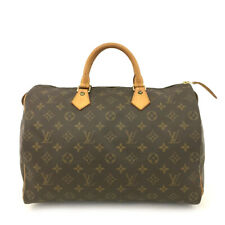 100% Authentic Louis Vuitton Monogram Speedy 35 Boston Travel Hand bag /60784