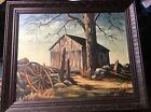 Thomas Hart Benton School 1972 Oil on Canvas, Signed S. Lloyd