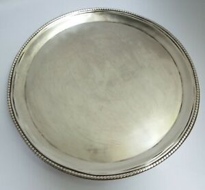 EARLY ENGLISH ANTIQUE 18TH CENT GEORGIAN 1784 STERLING SILVER CARD TRAY SALVER