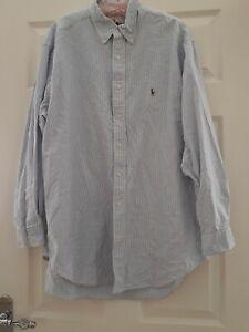 """ralph lauren yarmouth shirt size 17"""" collar xl"""