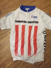 Scott Racing Team rare cycling jersey size S-M Ciclonia Paraguaya Full Zip