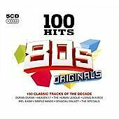 100 Hits 5CDs (80s Originals, 2012) Heaven 17 Yazoo Kim Wilde Kate Bush