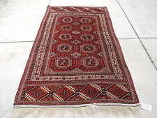 5x8ft. Authentic Handmade Turkoman Bokharra Wool Rug