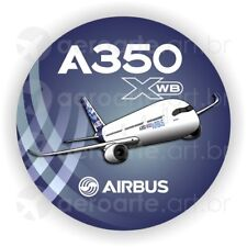 Airbus A350 aircraft round sticker