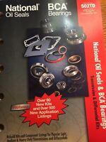 vintage national oil seals bca bearings 2002 catalog