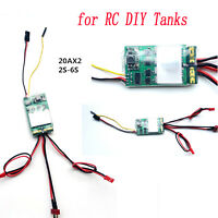 2S-6S 20Ax2 Brushed ESC Dual-way Bidirectional Speed Controller for RC DIY Tanks