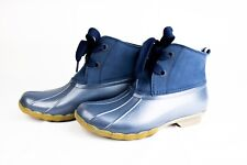 NEW - Sperry Saltwater Duck Boots 2-Eye Navy Women's size 7.5 - STS83942