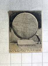 1921 Great Stone Globe At Swanage In Dorset