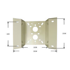 PTZ Corner Mount Bracket For Camera CCTV PTZ  Beige Bracket Metal Outdoor
