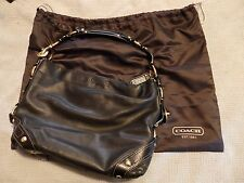 Coach CHELSEA KATARINA Black Leather Purse Gold Accents Great Condition!!