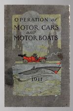 OPERATION MOTOR CARS MOTOR BOATS 1911 National Carbon Co Battery Use DIRECTIONS