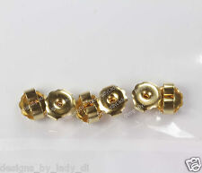 3 Pairs of Gold Earring Clutch Backs For Ear Piercing or Regular Earrings