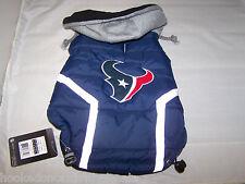 Houston Texans NFL Dog Vest Coat Jacket Puffer Style Hooded - Extra Large