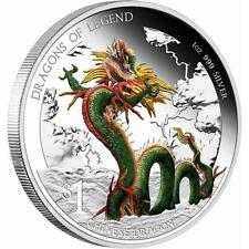 2012 $1 DRAGONS OF LEGEND CHINESE DRAGON 1OZ SILVER PROOF COIN