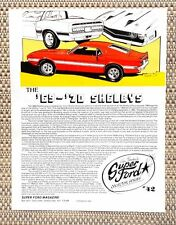 1969 1970 FORD SHELBY COBRA MUSTANG GT 350 GT 500 CAR LITERATURE FACT SHEET 42