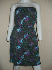 NEW BILLABONG VINTAGE FLOWER FLORAL RETRO TUBE TOP DRESS LOLITA M