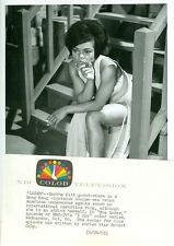 EARTHA KITT LEGGY SMOKING CIGARETTE I SPY ORIGINAL 1965 NBC TV PHOTO