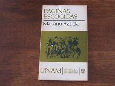 Paginas Escogidas Mariano Azuela 1973 Biblioteca del Estudiante Spanish Book