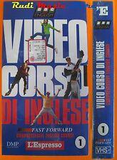 film VHS VIDEOCORSO DI INGLESE CARTONATA L'ESPRESSO VOL. 1   (F47*) no dvd