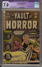 The Vault Of Horror #24 CGC 7.0 Restored (C-1) EC Comics 4-5/52 OFW /White Pages