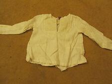 Girls Noa Noa White & Yellow Embroidered Linen Long Sleeve Top - 3 years - NWOT