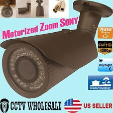 HD-CVI 1080p 2.4MP Motorized Zoom AutoF 2.8-12mm VF Bullet Camera Sony CMOS-GREY