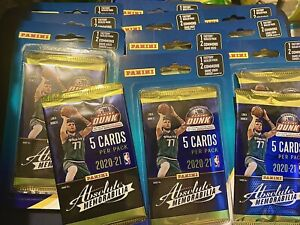 2020-21 Panini Dunk NBA Absolute Memorabilia BLISTER +2 Bonus Cards