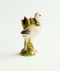 A Porcelain Stork Umbrella Stand