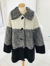 ORLA from TIVOLI designer black & white wool mix coat size L