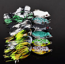 High Quality 6pcs/Lot Mini Frog Fishing Lures Soft Lure Bait Tackle 5.1cm/6.86g