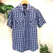 Michael Brandon Casual Button Down Plaid Shirt Men's Small