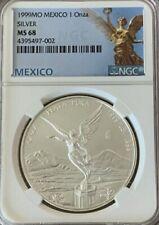 1999-Mo Mexico Silver Libertad 1oz Silver Coin NGC MS 68 !!!!