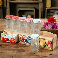 The Pioneer Woman Floral 4.1-Inch Spice Jars, Set of 6 inc 3 Drawer Rack NEW
