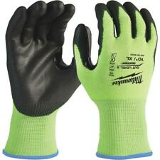 Milwaukee 48-73-8923 High-Visibility Cut Level 2 Polyurethane Dipped Gloves XL