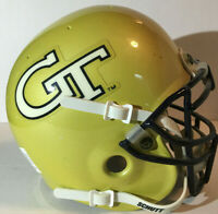 GEORGIA TECH YELLOW JACKETS NCAA COLLEGE FOOTBALL SCHUTT AIR GT GOLD MINI HELMET