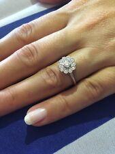 Tiffany & Co PT950 Platinum Diamond 💍 💎 Flower Enchant Ring .35 TCW Size 5.5