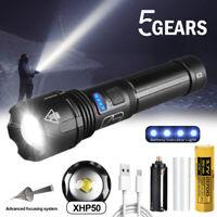 Superhell 900000lm XHP50 LED Taschenlampe taktisches Polizei Fackel Arbeitslich