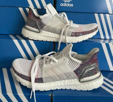 Adidas Ultraboost 19 White Purple Blue Women's Trainers Shoes UK 7.5 EU 41 1/3