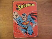 VINTAGE RETRO STYLE METAL ADVERTISING SIGN WALL PLAQUE *SUPERMAN* SUPERHERO FAB!