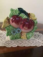 Vintage Shafford Apple Wall Pocket/Planter 1950's Made In Japan - RARE